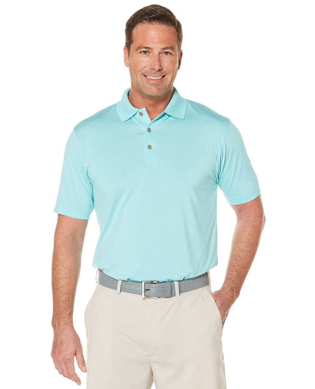9043dd7eb Amazon.com: Grand Slam Men's Classic-Fit Patterned Driflow Performance Golf  Polo (4XB, Light Teal Heather): Clothing
