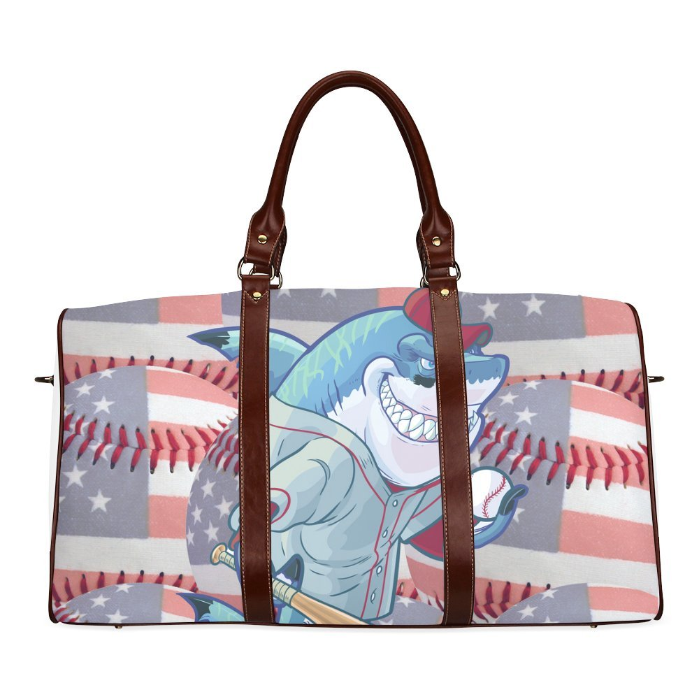 AnnHomeArt USA Baseball両面印刷Large Duffleスポーツ/旅行バッグ B06XWVMPJM Picture 7 Picture 7