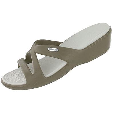 3fb5303cbf63f Crocs Women s Patricia II Low Wedge Slide Sandal Khaki 10 M US ...