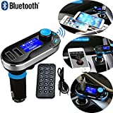REALMAX® Bluetooth MP3 Player FM Transmitter Hands-free Car Kit Charger for iPhone HTC Samsung Blackberry Sony Nokia LG (Silver)