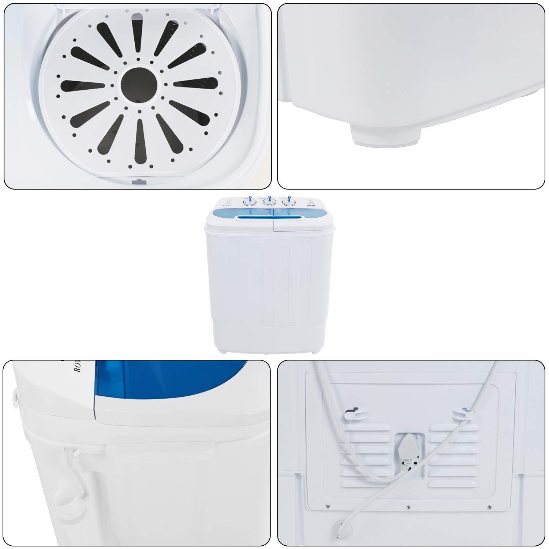ghdonat.com ROVSUN 16.6LBS Portable Washing Machine w/Twin Tub ...
