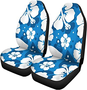 wwoman Tropical Aloha Surfboard Front Car Seat Covers Set of 2 Car Seat Covers Front Seats Only Universal Fit