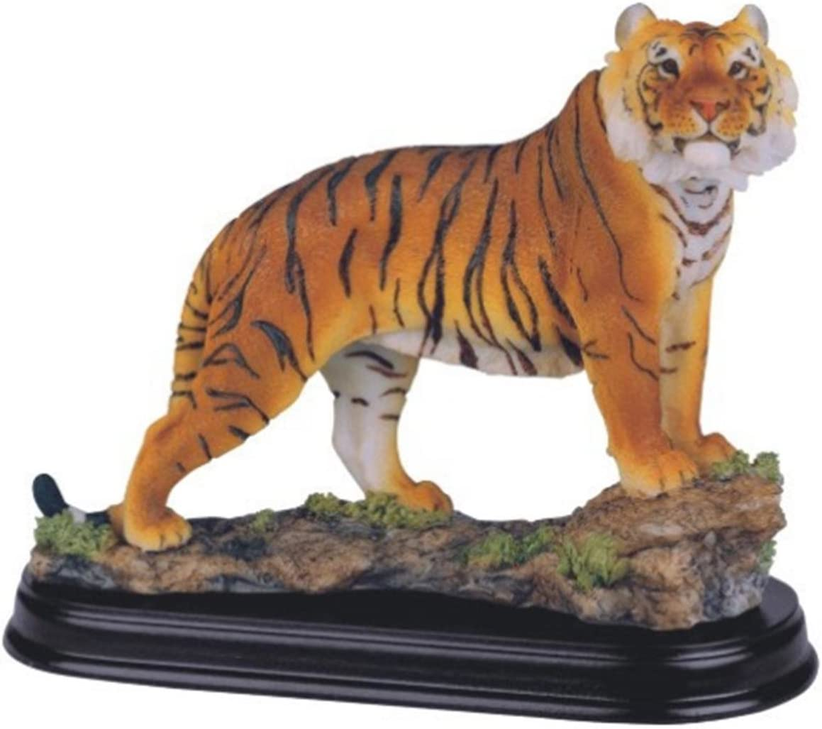 White Tiger Collectible Wild Cat Animal Decoration Figurine Statue Standing
