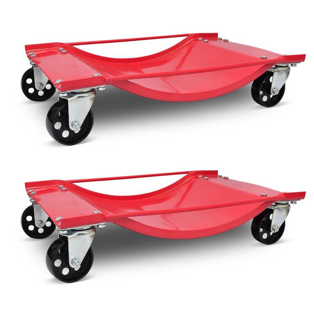 Chloe Rossetti 2pcs Dolly Car Transport Dolly Dimensions 23.8 x 15.2 x 4.7 inch Trolley Capacity: Max. 990 lb each (1980 lb per pair)