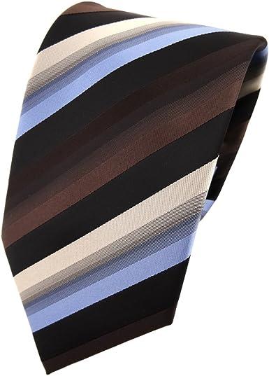 TigerTie - Corbata - marrón marrón oscuro azul beige negro rayas ...
