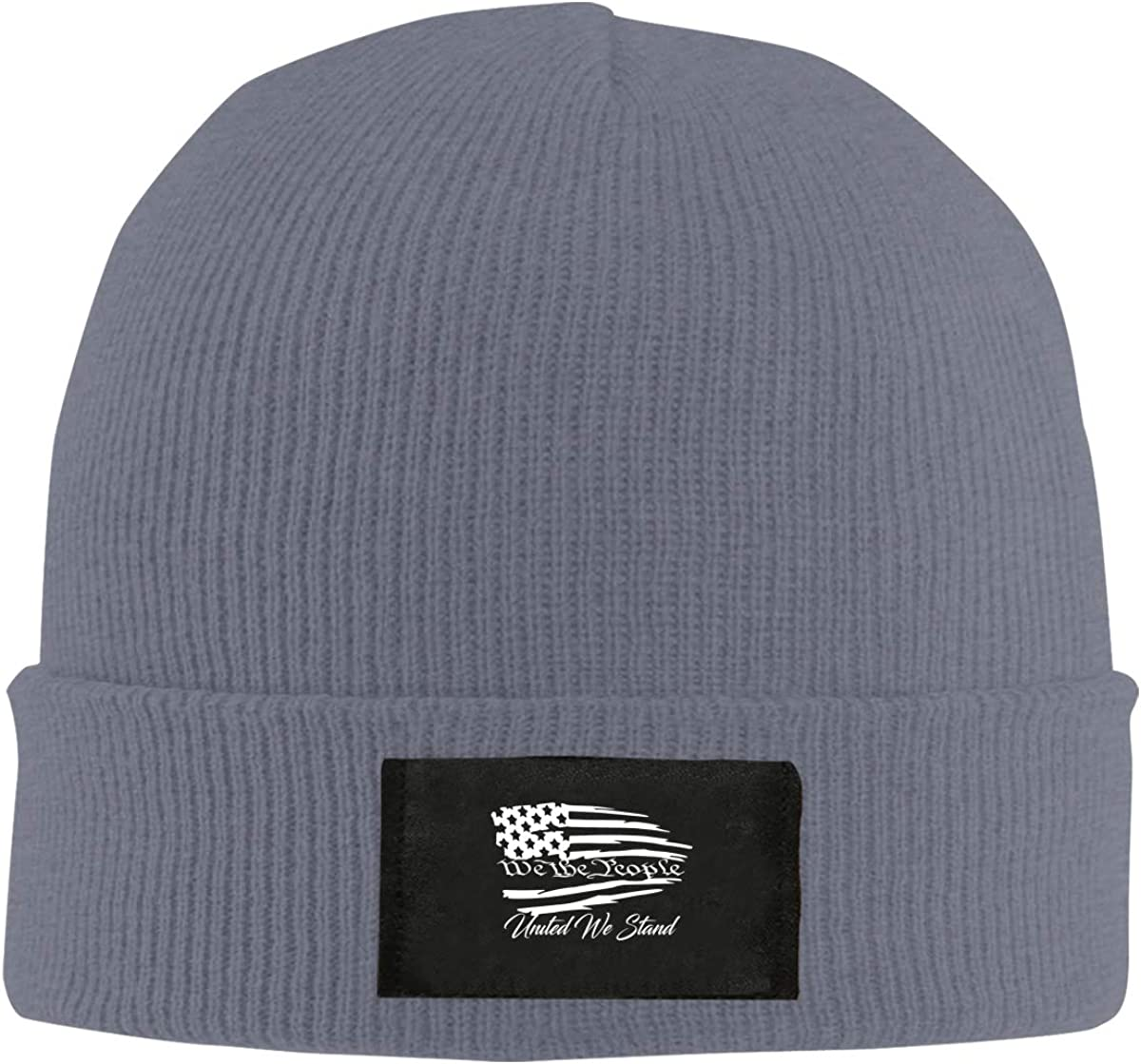 Unisex Stylish Slouch Beanie Hats Black We The People United We Stand Top Level Beanie Men Women