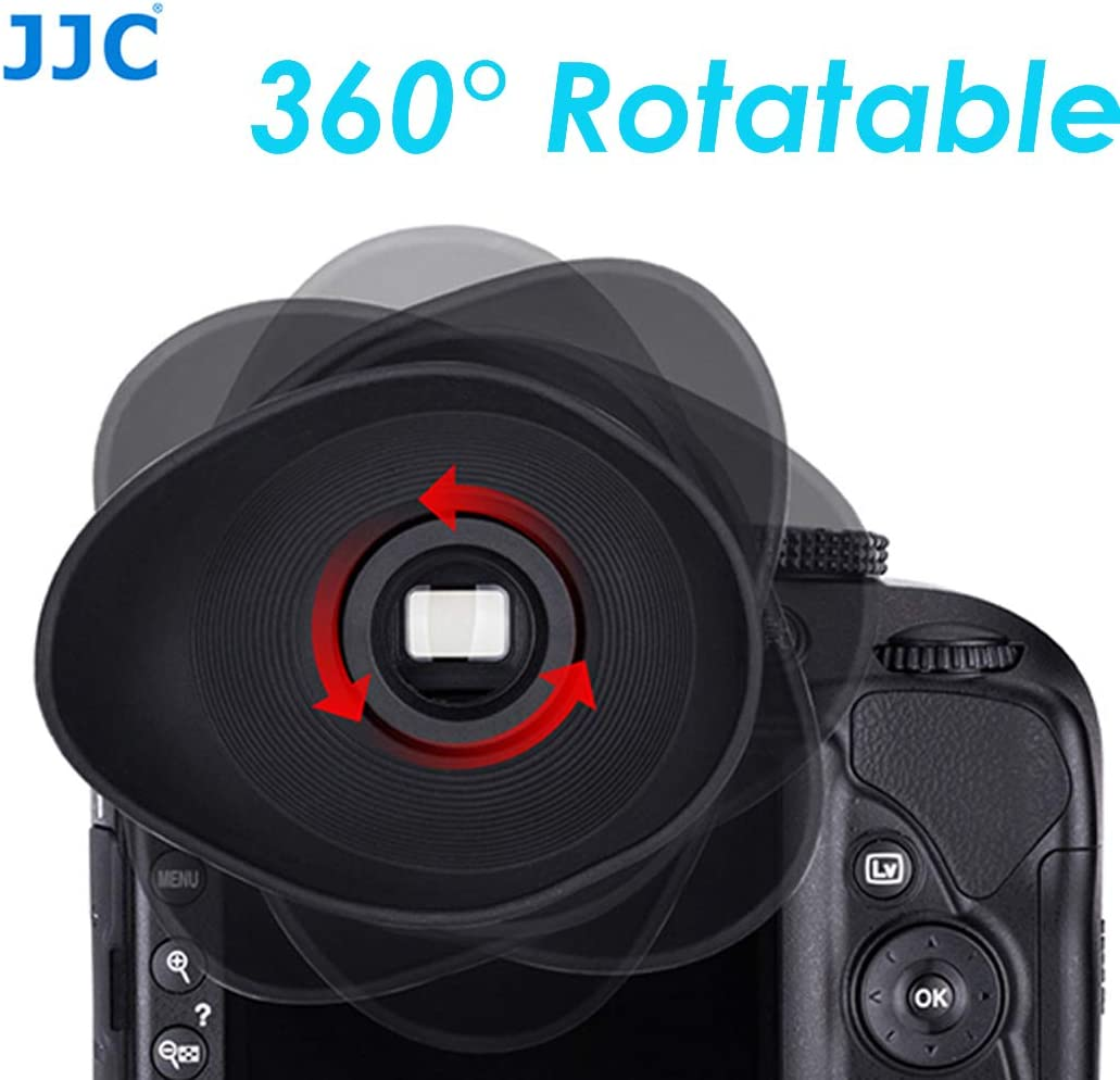 Eyecup for Sony A7 Series Replaces Sony EP16 Eyecup Ergonomic Oval Shape JJC ES-A7 Soft TPU Rubber Large Eye cup Eyepiece for Sony a7 a7 II a7III a7r a7r II a7R III a7S a7S II a7s III a58 a9 a99 II 360 Degree Rotatable