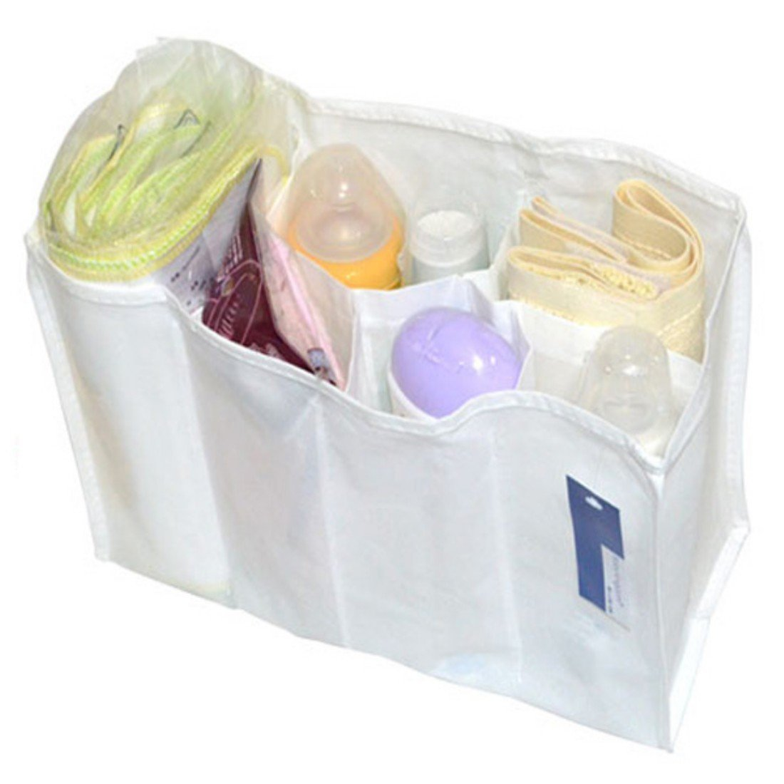 tfrdertuuigf Baby Diaper Nappy Changing Mother Bag Cell Divider Storage Bag (M)