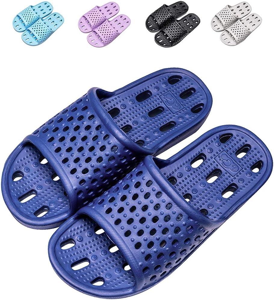 Shower Shoes Men Slippers for Women Shower Sandals Gym Non-Slip Bath Flip Flops Slides Bathroom Pool …
