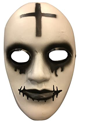 The Purge Anarchy Movie Halloween Mask Cross Deluxe Fibreglass W/ Adjustable Buckle Strap