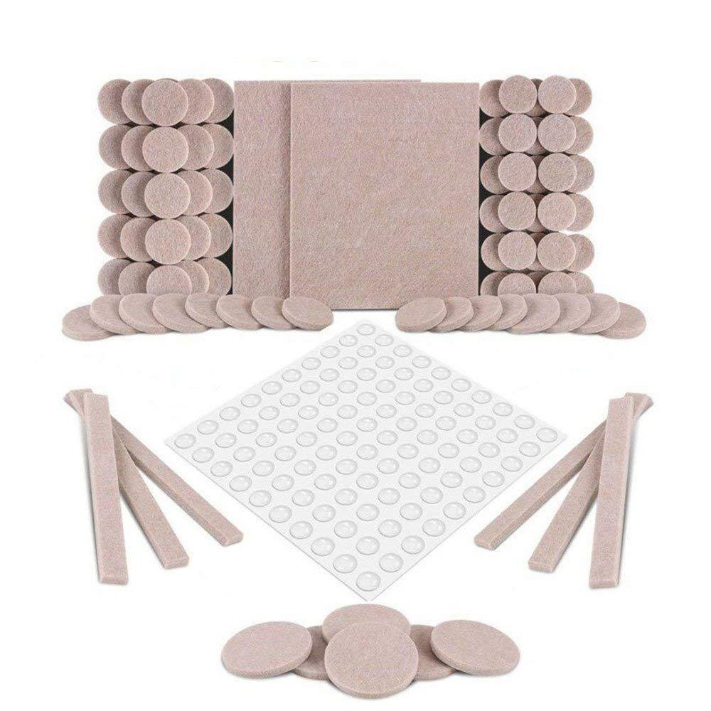Almohadillas para muebles, almohadillas de fieltro autoadhesivas, paquete premium de 190 almohadillas para muebles MISCAN