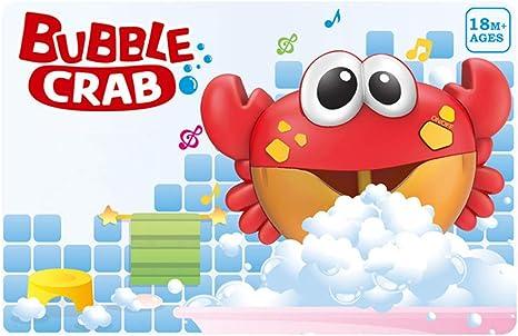 Crab Bubble Machine12 Songs Musical Bubble Maker Bath Baby Toy Fun Bath Shower