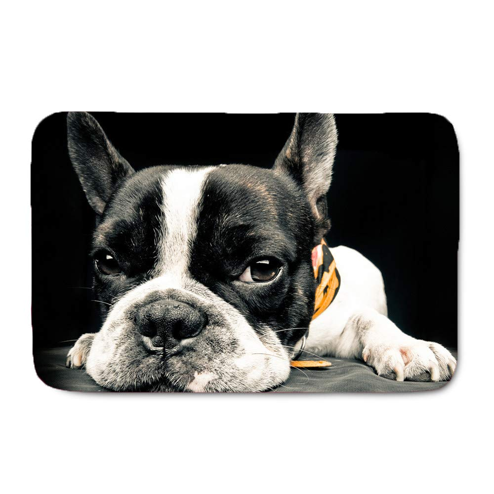 Youngerbaby Cute Christmas Dogs Print Doormat Home Decorative Welcome Floor Mats Kitchen Bath Bedroom Rubber Carpet Merry Christmas