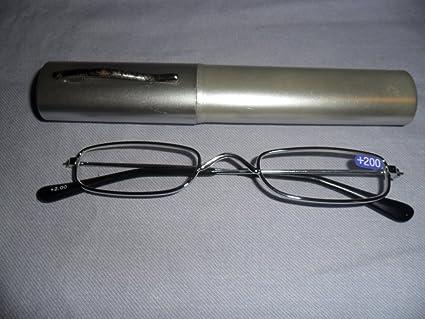 5a13600eded8 PORTABLE SLIM READING GLASSES IN PEN CASE TUBE 2.0: Amazon.co.uk ...