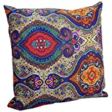 Decorative Pillow Cover - Benfan Decorative Pillowcase with Canvas Pillow Covers Printing Flower for Sofa Decorative Pillow Covers 20x20