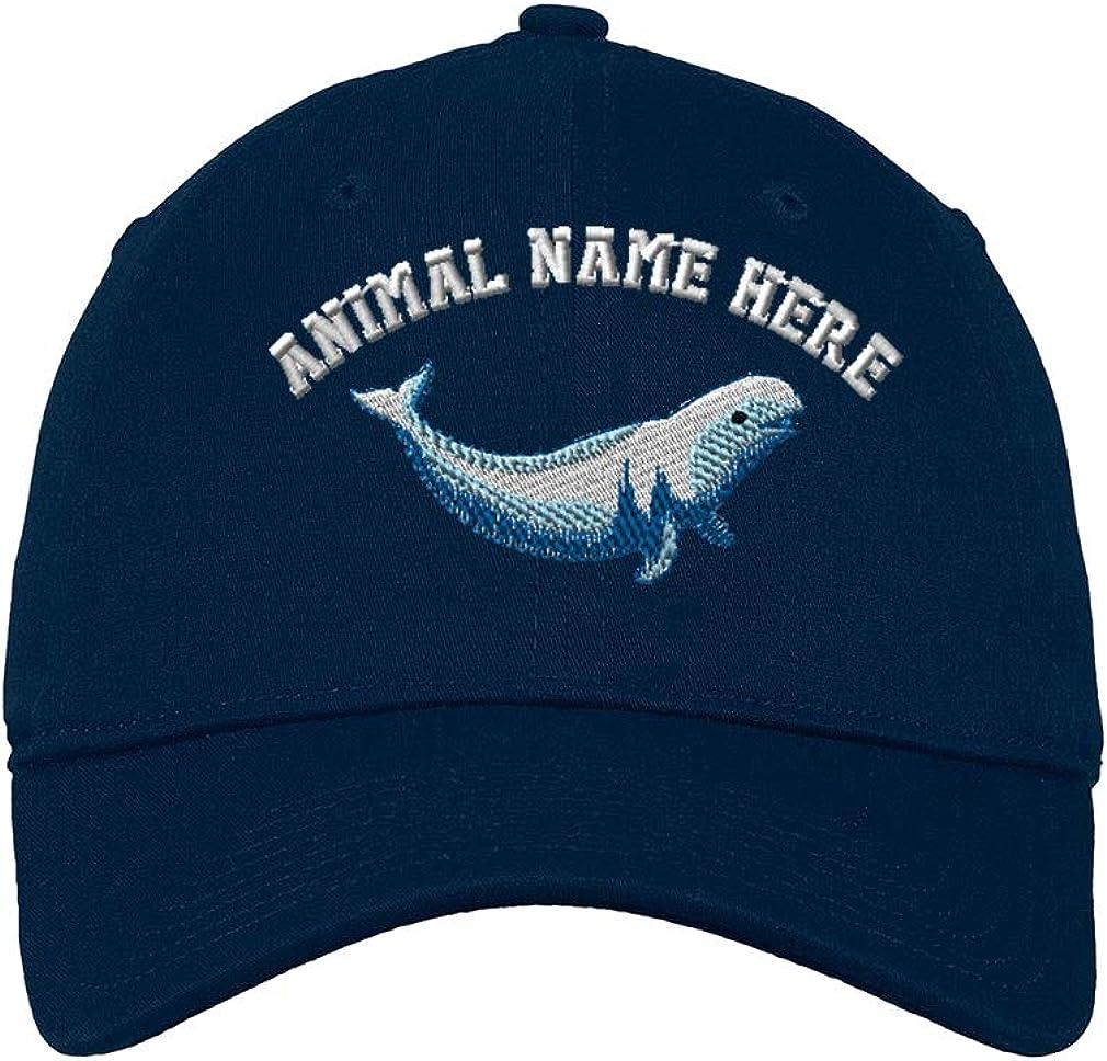 Custom Low/Profile/Soft Hat Beluga Embroidery Animal Name Cotton Dad Hat