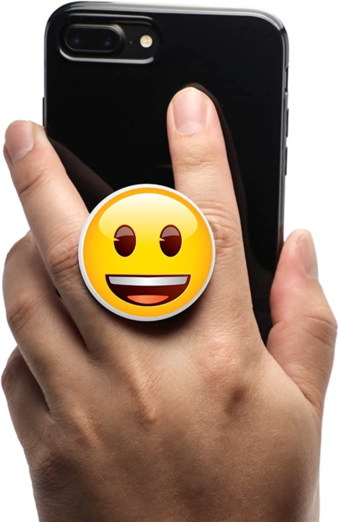 Coolgrips All in one Magnetic Collapsible Cell Phone Grip Mount and Stand for Smartphones and Tablets Emoji Smiley Poo Pattern