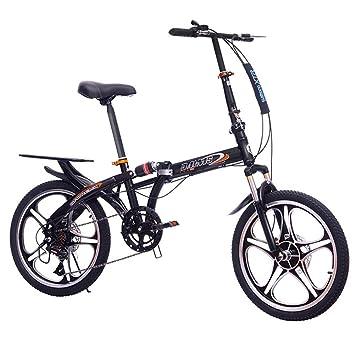 LETFF Bicicleta Plegable para Adultos de 20 Pulgadas de absorción de Choque de Velocidad Variable para