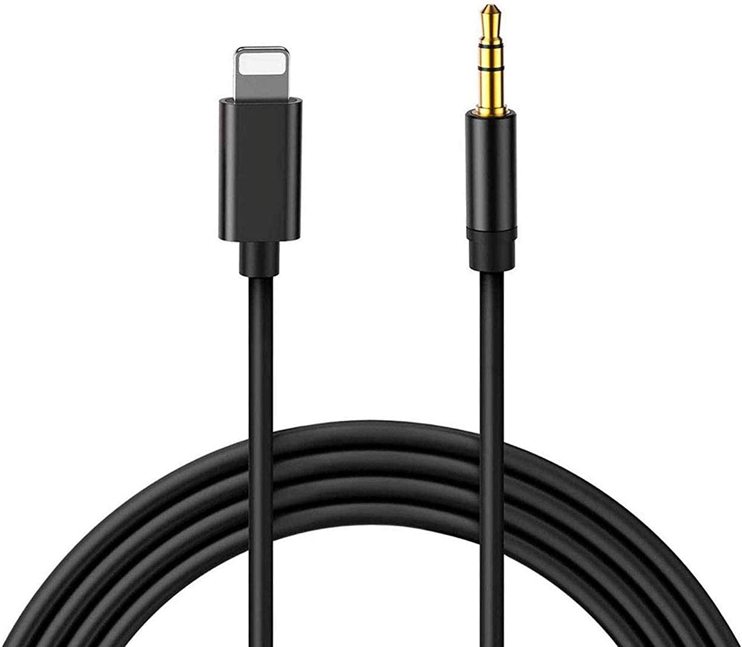 [Apple MFi Certified] Aux Cord for iPhone, Lightning to 3.5mm Stereo Audio Aux Cable for Car Compatible with iPhone 11/11 Pro/XS/XR/X/8/7/SE/iPad to Car/Home Stereo, Speaker, Headphone - 3.3FT, Black