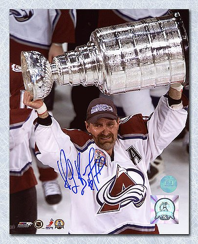 Ray Bourque Colorado Avalanche Autographed 2001 Stanley Cup 8x10 Photo - Signed Hockey Pictures