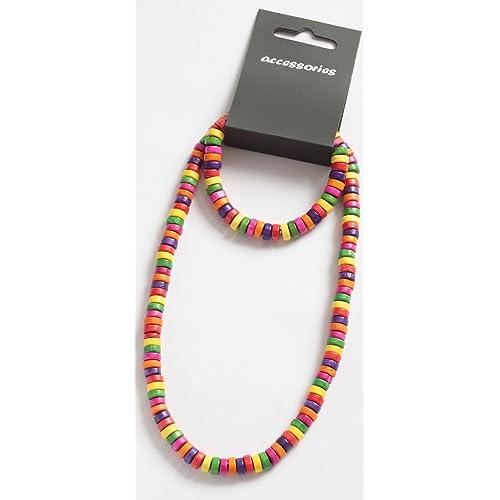 Ruby Thursday - Collier et Bracelet en Bois pour Enfant - Multicolore