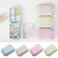 Sisaka 10 Scomparti PortaPillola Settimanale Organizzatore di viaggi Scatola della pillola Pocket medica farmaci Contenitore PortaPillola Settimanale 7 e Tre strati di Design