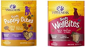 Wellness Soft Puppy Bites With Soft Wellbites Dog Treats, Beef & Turkey Bundle