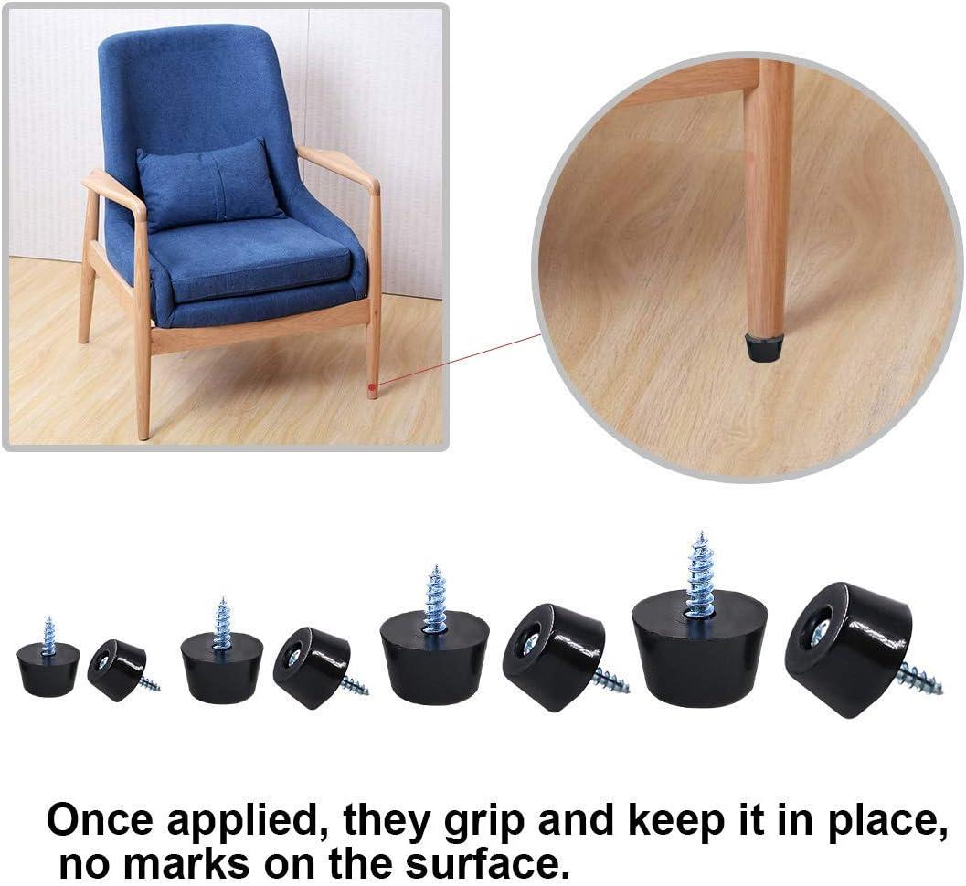 20Pcs Cutting Board Rubber Furniture Feet Sofa Anti-Skid Fine Grips Screw Bumper