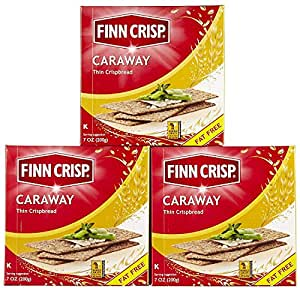 Amazon.com: Finn Crisp Caraway Thin Rye Crispbread w