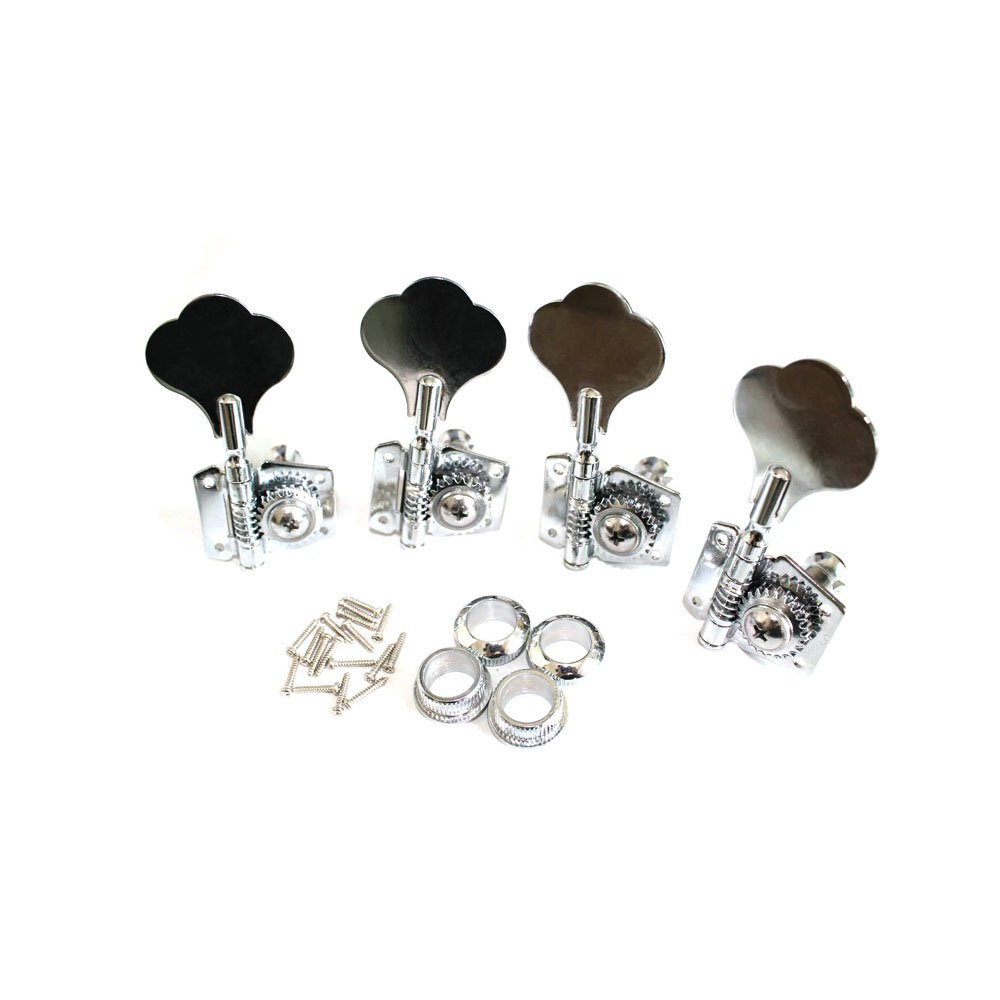 Fastmusic Opened Chrome Bass Guitar Machine Heads Knobs Tuners