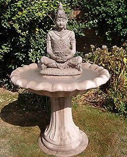 Stone ornate serine Buddha water Fountian garden ornament