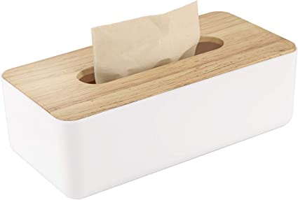 rettangolare Bulkings 26 x 13 x 9 cm pratica scatola per fazzoletti Scatola porta fazzoletti in legno
