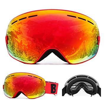 31e5a7ac1d58 Docooler Ski Goggles Snowboard Skate UV Protection Anti-fog with Wide  Spherical Lens for Men