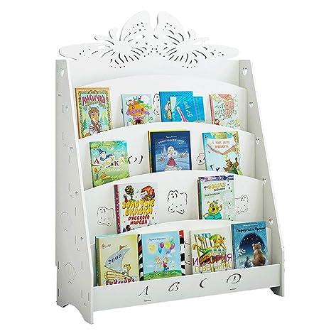 Porta archivador Estantería para niños Simple Estantería de Dibujos Animados para Suelo Estantería para periódicos de