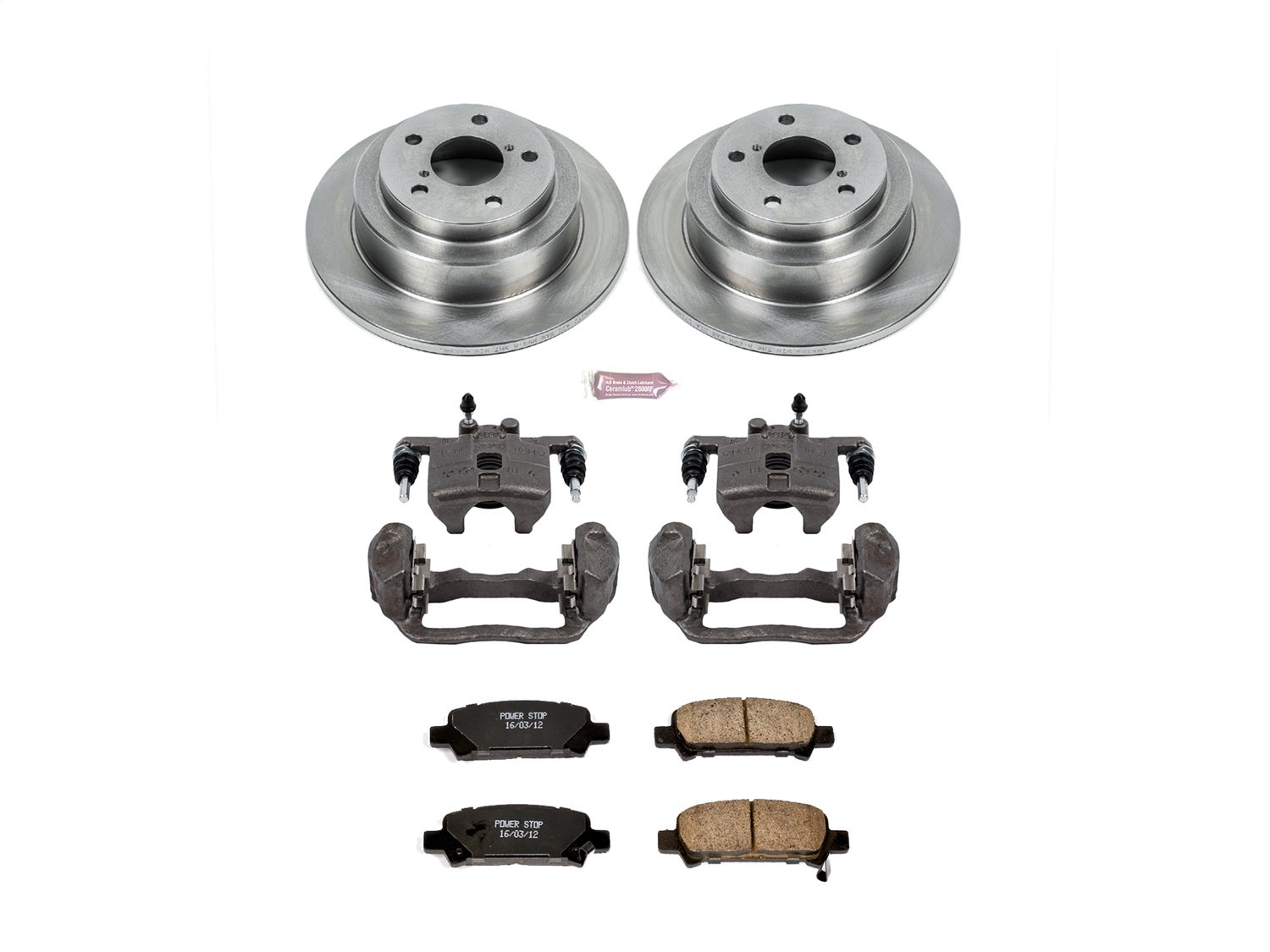 Power Stop KCOE449 Autospecialty 1-Click OE Replacement Brake Kit with Calipers