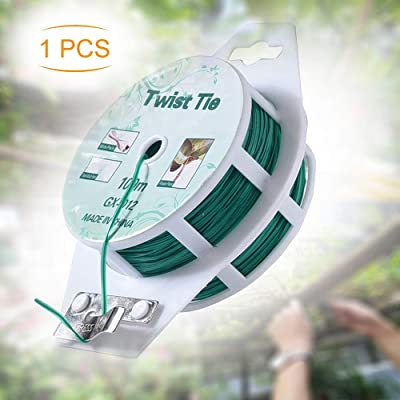 All-Purpose 328 feet Twist Ties - Multifunctional Twist Plant Ties with Cutter, for Plants Support Garden Office and Home Cable Organizing (328 Feet/ 100m, Green, Set of 1) : Garden & Outdoor