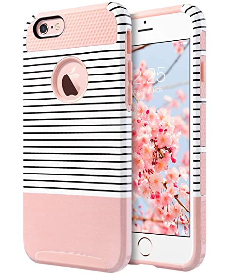 best service e58c3 712c0 ULAK iPhone 6 Plus Case, iPhone 6S Plus Case, Slim Dual Layer Protection  Scratch Resistant Hard Back Cover Shockproof TPU Bumper Case for Apple  iPhone ...