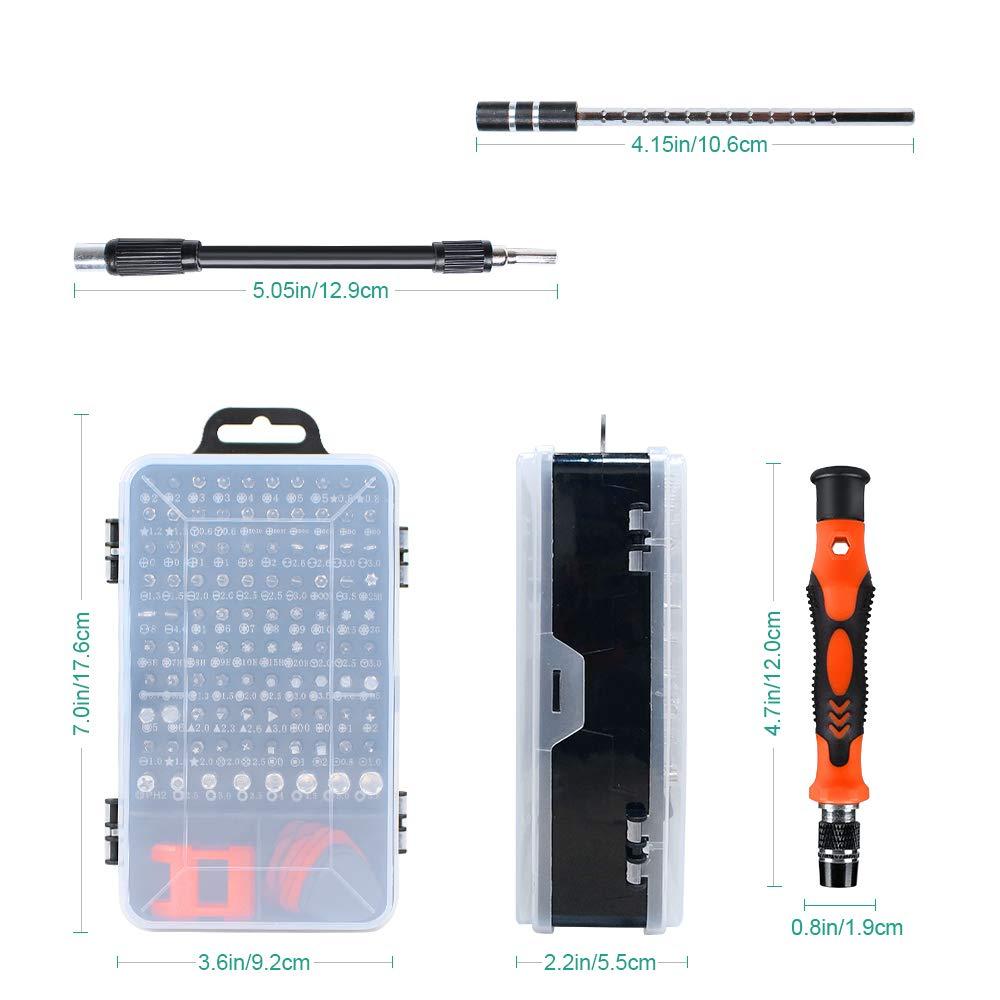 Gocheer 115 in 1 Mini Set cacciaviti precisione Professionali magnetici Stella giraviti Kit cacciavite per Occhiali, orologiaio,Orologio,Riparazione cellulari,Smartphone, iPhone, PC