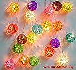 Mixed Colour Rattan Ball Fairy Light...
