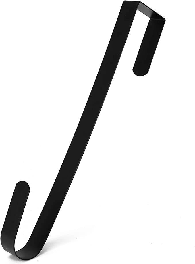 Black//1pcs Sorlakar Metal Wreath Door Hanger 38cm//15inches Xmas Strong and Sturdy Over The Door Hooks Wreaths Holder Front Doors Hang Decor Hook Hangers Perfect for Home//Office Christmas