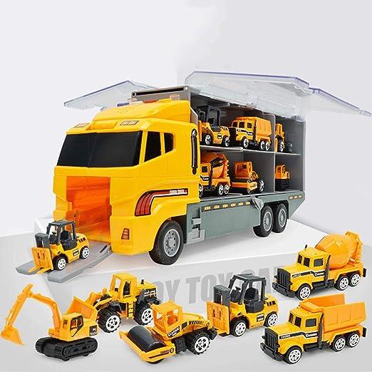 CR Car AP Juego de Camiones de Transporte con 6 Mini Coches ...
