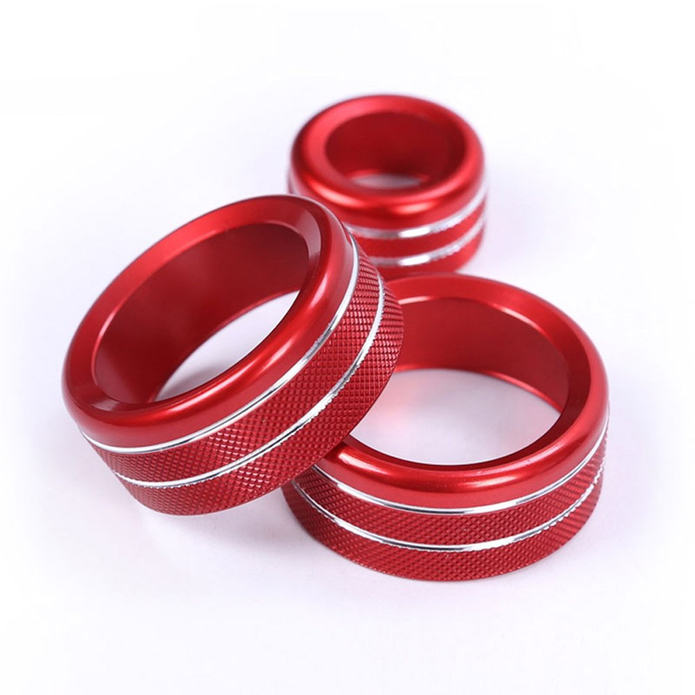 3Pcs For 1 2 3 4 Series F30 F34 F46 GT X1 F48 13-17 Car Styling Air Conditioning Knobs Audio Circle Trim Alloy Accessory Silver