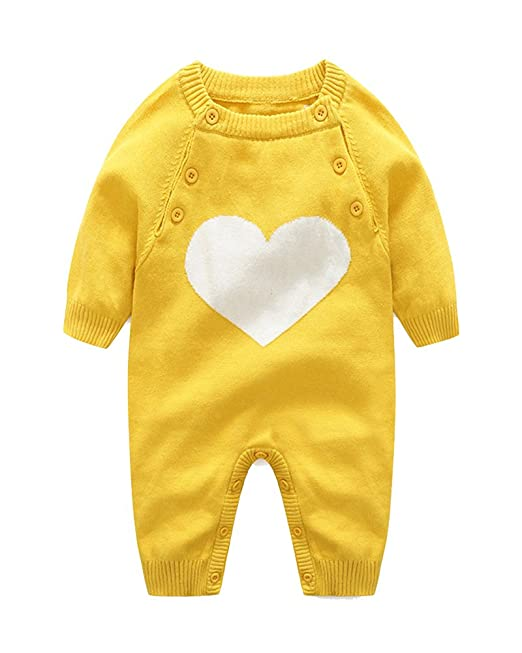 Kasen Bebé Niños Niñas Pelele Patrón De Corazón Conjunto De Manga Larga Romper: Amazon.es: Ropa y accesorios