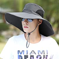 Sun Hat/Middle-Aged Man's Wide-Brimmed/Soft Cap/Chin with Soft Wind Rope/Folding/Breathable/Sunscreen/UV Protection Cap…