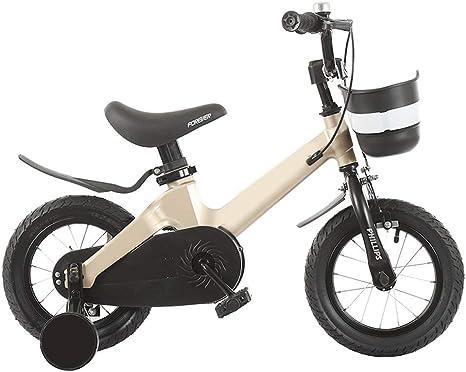 JINHH Niños Bicicleta Niño Niña 2-3-4-6-7 Años Bicicleta con Rueda ...