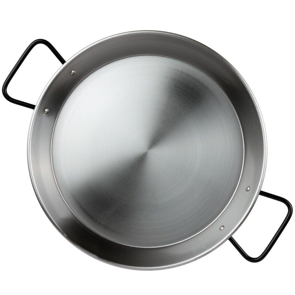 Garcima Polished Steel Professional Paella Pan 34cm for Ceramic, Induction & AGA hobs 33780