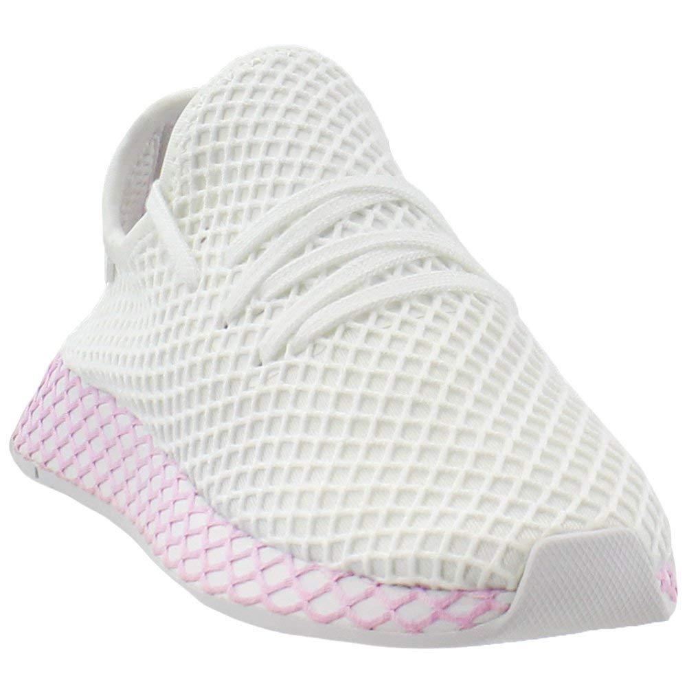White-Clear purplec adidas Originals Deerupt Runner shoes Women's Casual