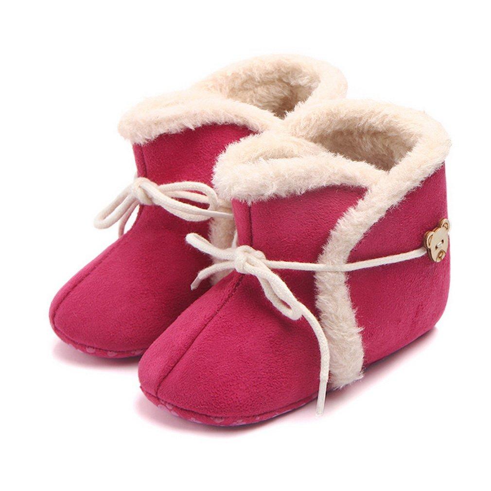 COMVIP Baby Warm PU Fleece Boots Premium Sole Toddler Shoes Slipper