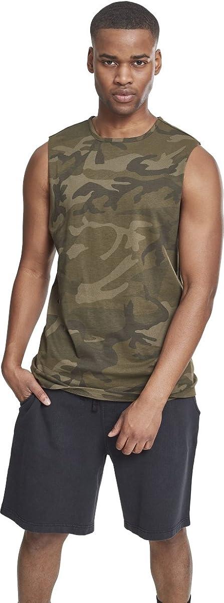 Urban Classics Camo Tanktop Camiseta Deportiva de Tirantes para Hombre