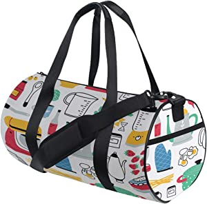 Duffel Large Kitchen Cooking Tool Travel Duffel Bags Functional Fitness Duffel Bag For Adult Kids Fitness Tote Sport Training Badminton School Bag